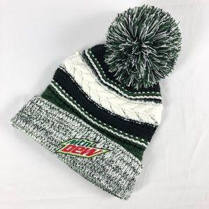 0b2d44b8146 Sport-Tek Mountain Dew pompom ski hat winter hat